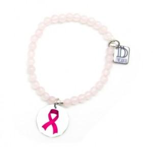 cuarzo rosa colgante -contra cancer de mama-