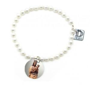 perlas colgante -virgen de la almudena-