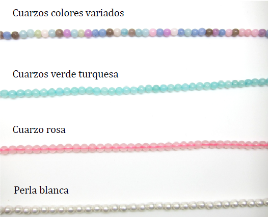 colores pulsera cuentas